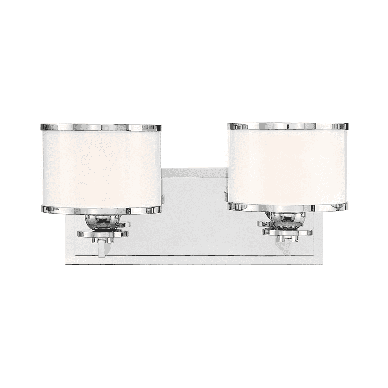 Basking Ridge 2 Light Bath Bracket Polished Nickel