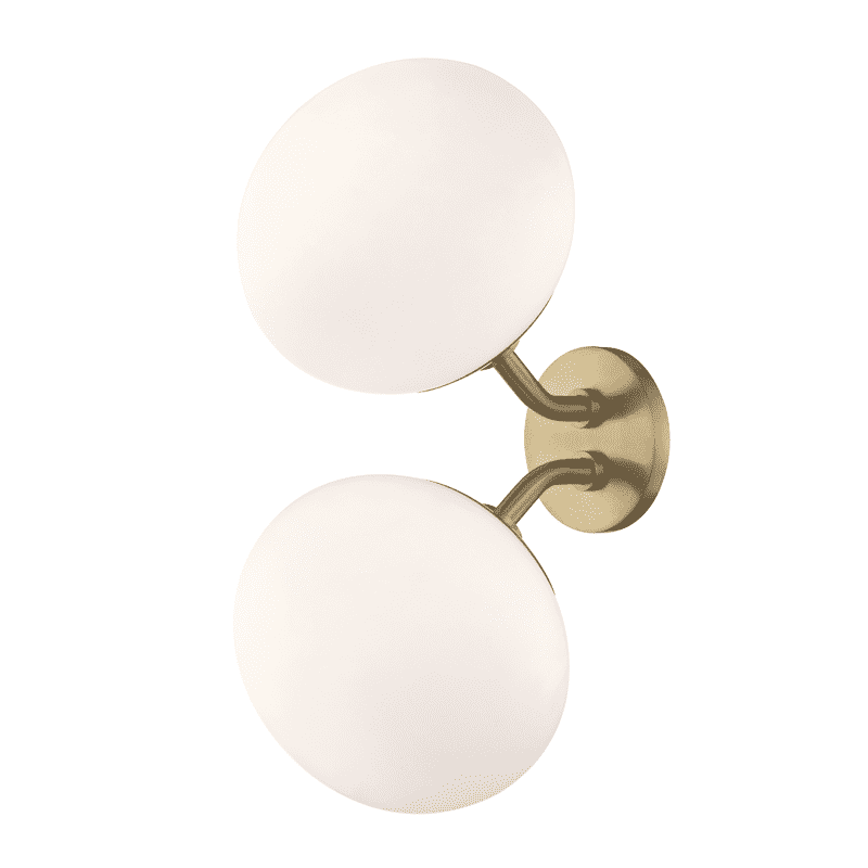 Estee 2 Light Wall Sconce - Aged Brass