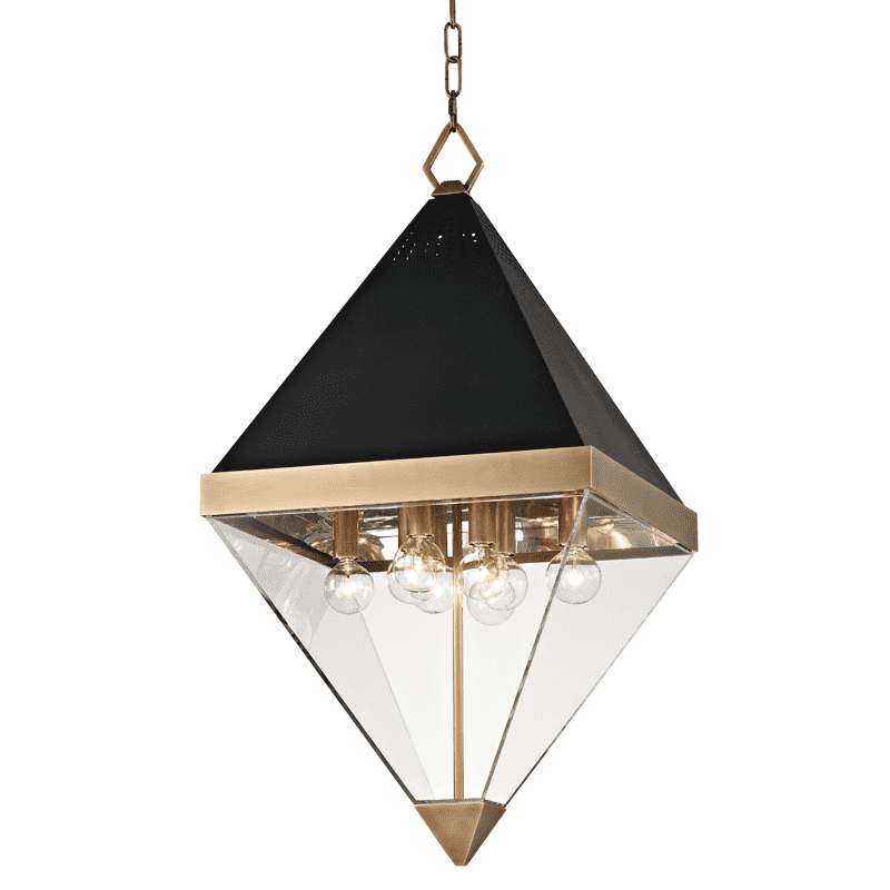 Coltrane 8 Light Pendant Aged Brass