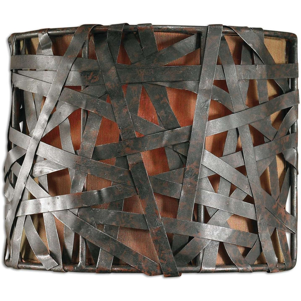 Uttermost Alita 1 Light Black Wall Sconce