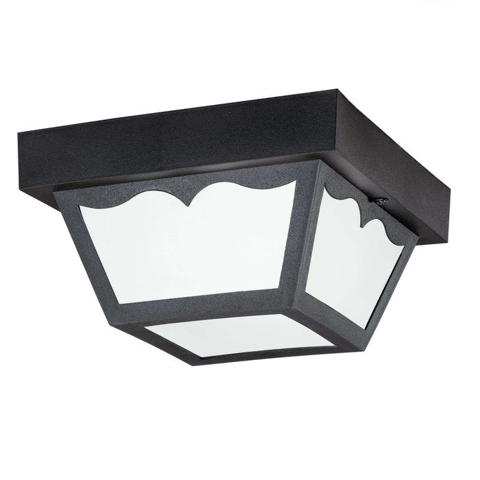 Outdoor Ceiling 1 Light Plastic Features - Black
