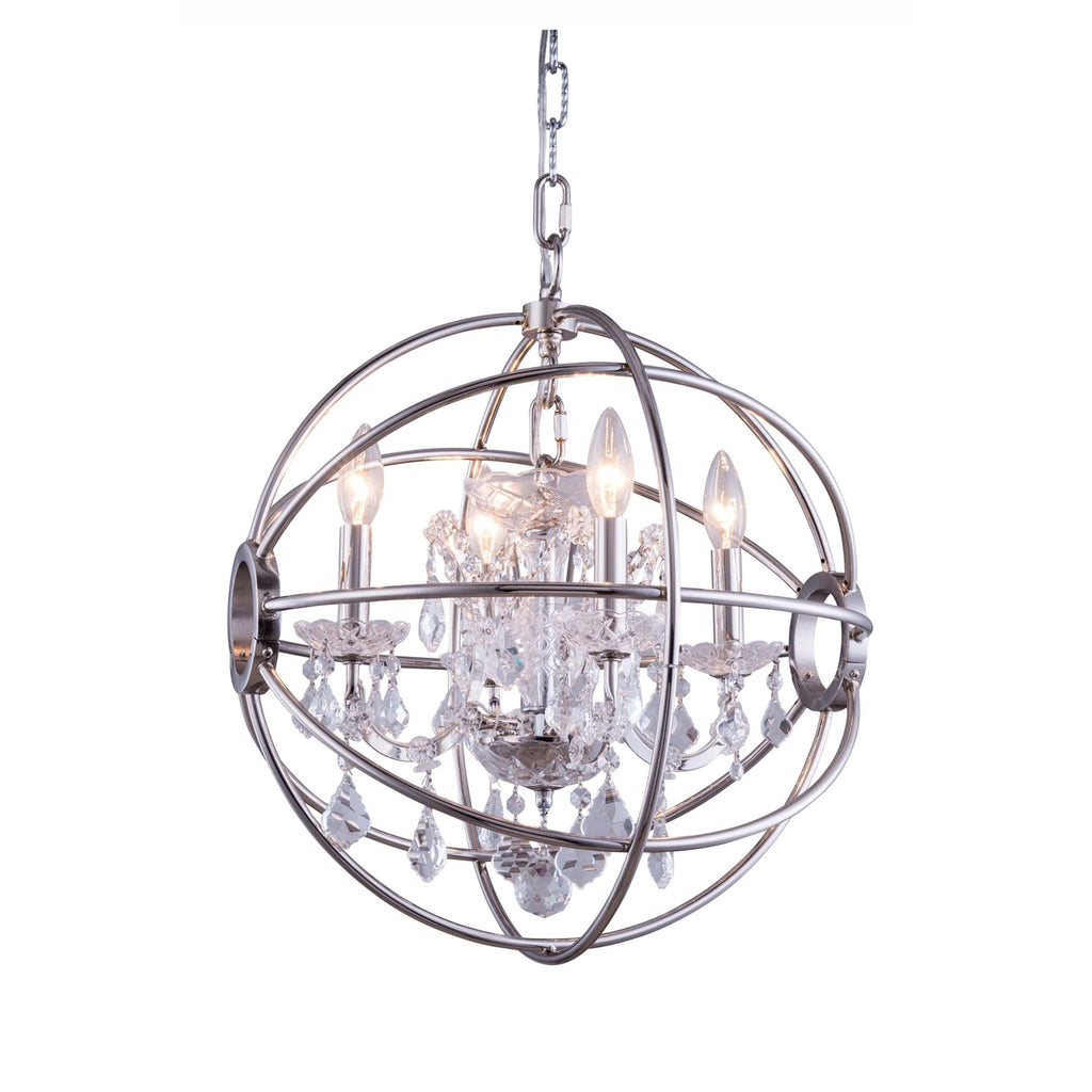 1130 Geneva Collection Pendent Lamp Polished Nickel Finish - Clear