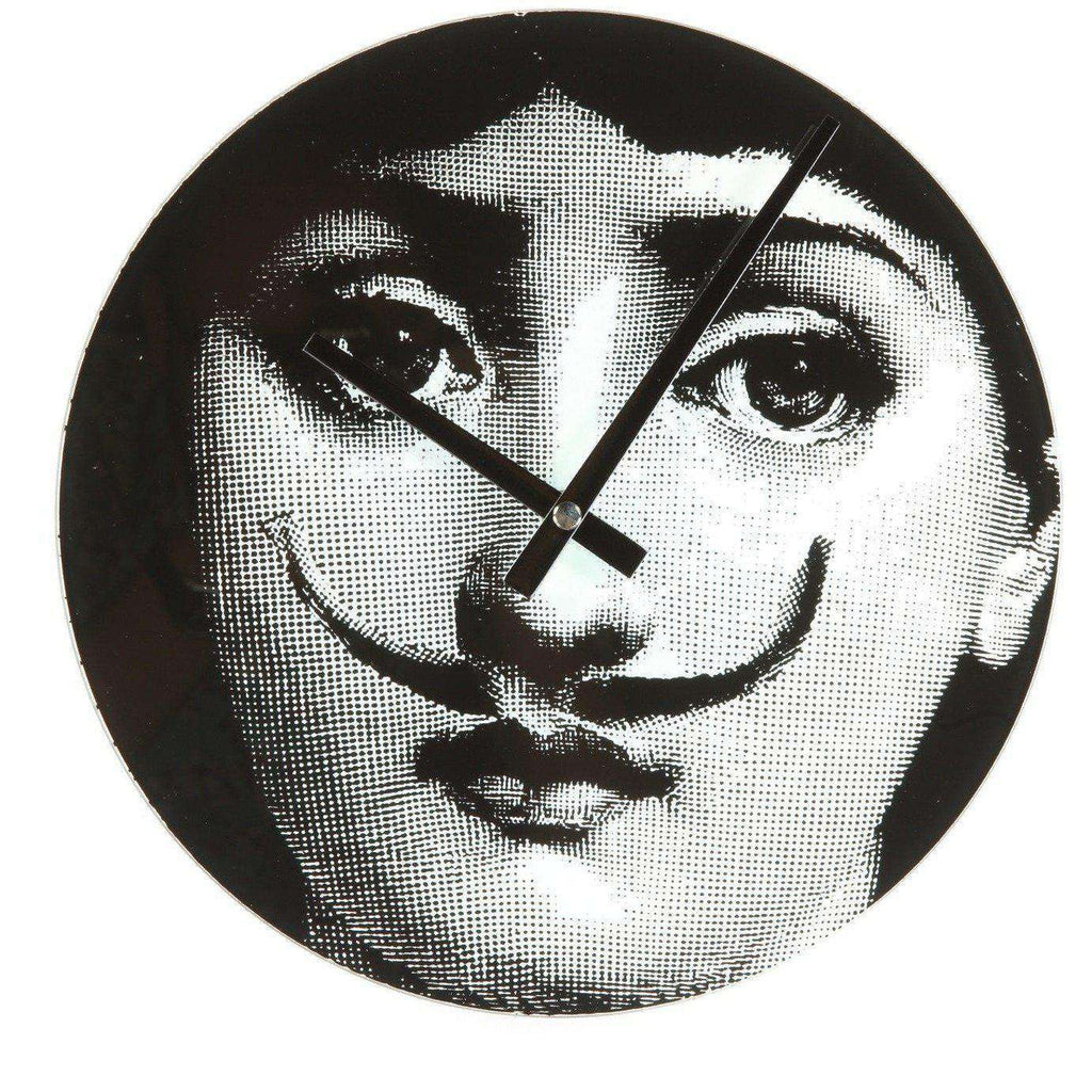 Mid-Century Modern Reproduction Girl Clock - Mustache Inspired by Piero Fornasetti