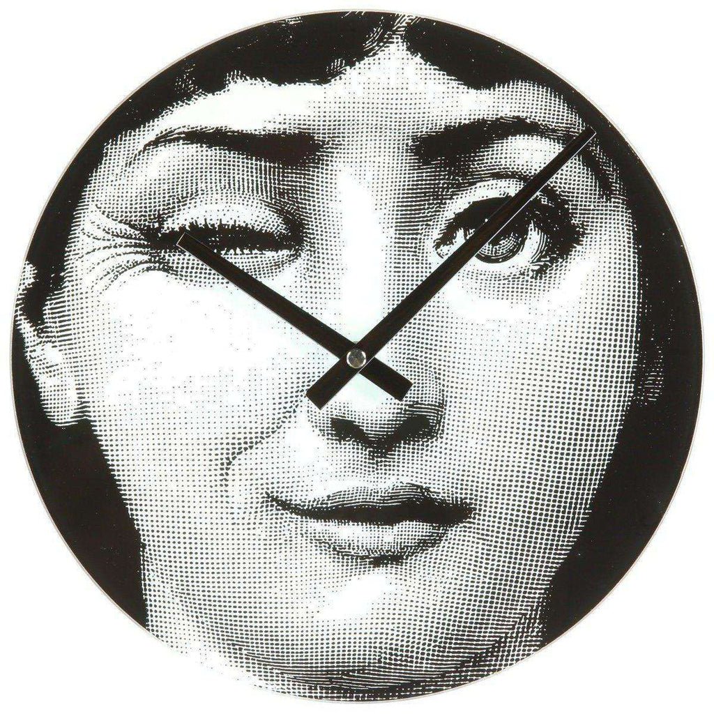 Mid-Century Modern Reproduction Girl Clock - Wink Inspired by Piero Fornasetti