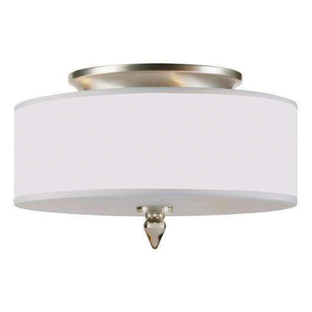 Luxo 3 Light Drum Shade Flush Mount