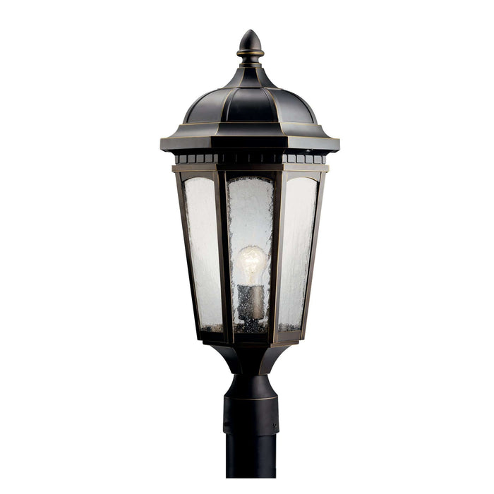 Courtyard Outdoor Post Mount 1 Light - Rubbed Bronze
