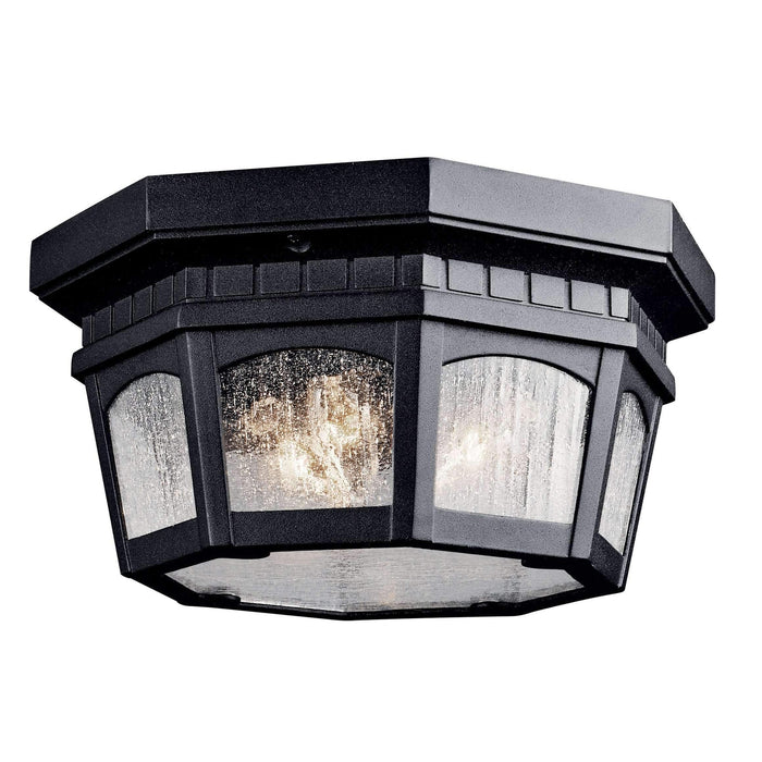 Courtyard Outdoor Ceiling 3 Light - Textured Black