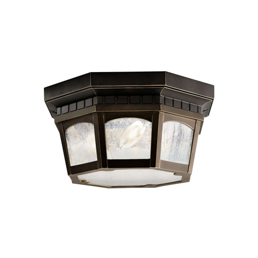 Courtyard Outdoor Ceiling 3 Light - Rubbed Bronze