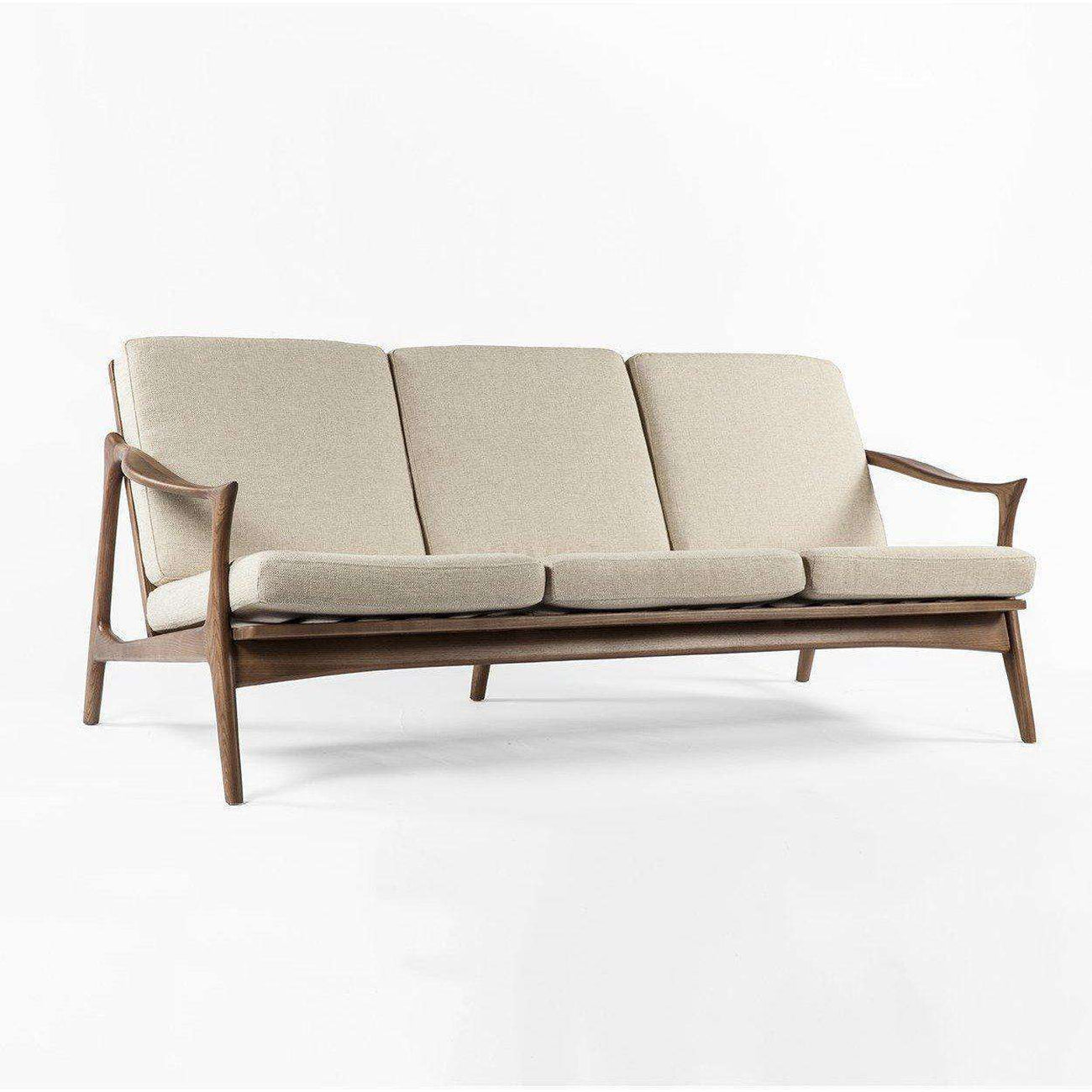 d66bed863 Mid-Century Modern Reproduction Model 711 Danish Sofa - Beige ...