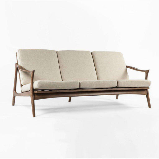 Mid Century Modern Reproduction Model 711 Danish Sofa   Beige Inspired By  Fredrik Kayser ...