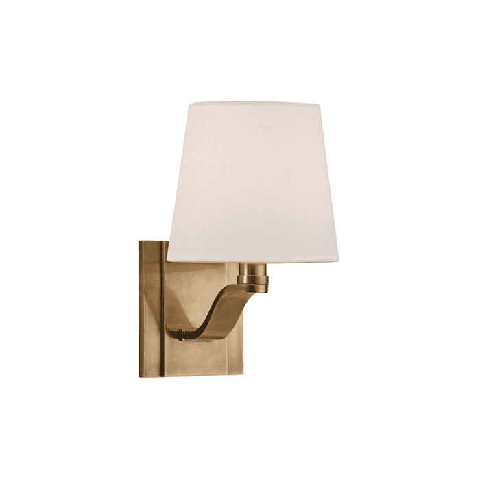 Clayton 1 Light Wall Sconce Aged Brass