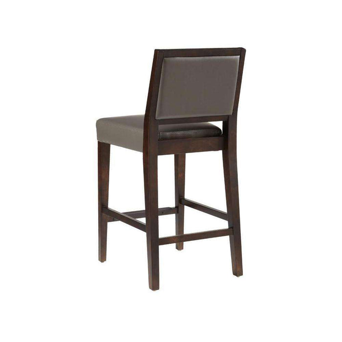 CITIZEN COUNTER STOOL - GREY LEATHER