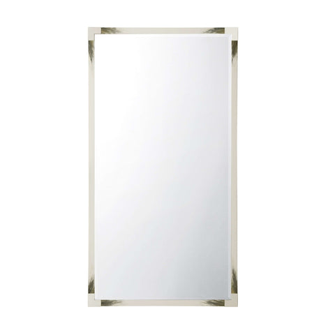 Cutting Edge Floor Mirror (Longhorn White)