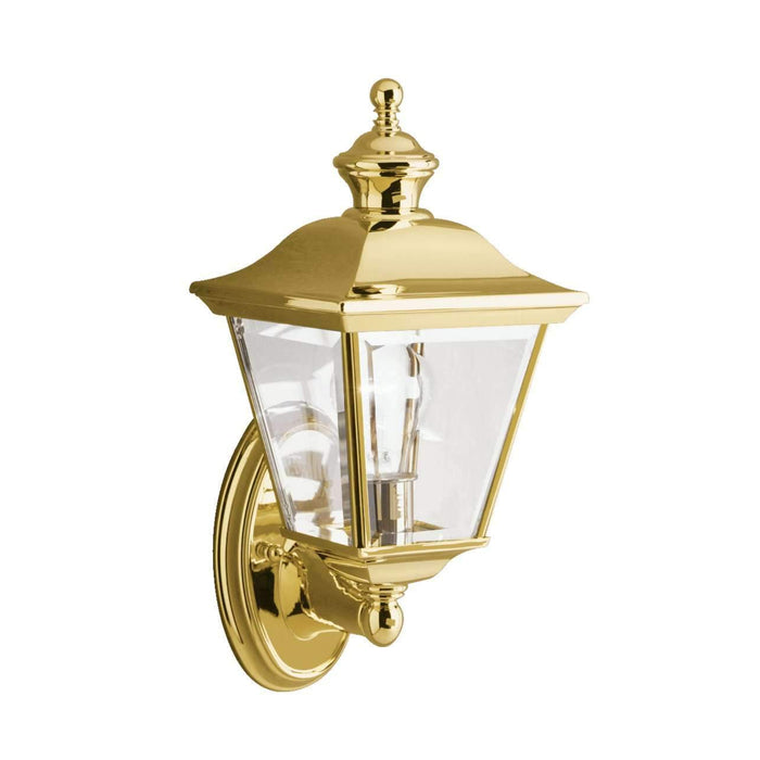 Bay Shore Outdoor Wall 1 Light - Polished Brass