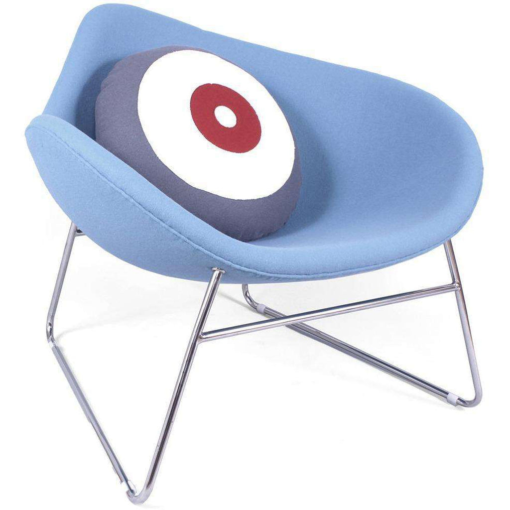 Mid-Century Modern Reproduction K2 Chair - Blue Inspired by Busk and Hertzog