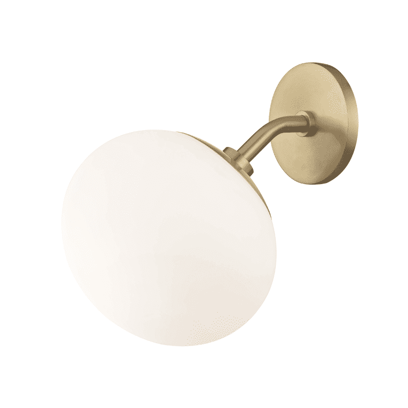 Estee 1 Light Wall Sconce - Aged Brass