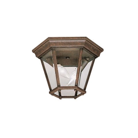 Madison Outdoor Ceiling 2 Light - Tannery Bronze