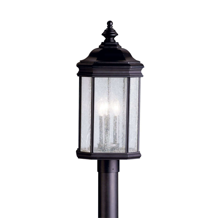 Kirkwood Outdoor Post Mount 3 Light - Black