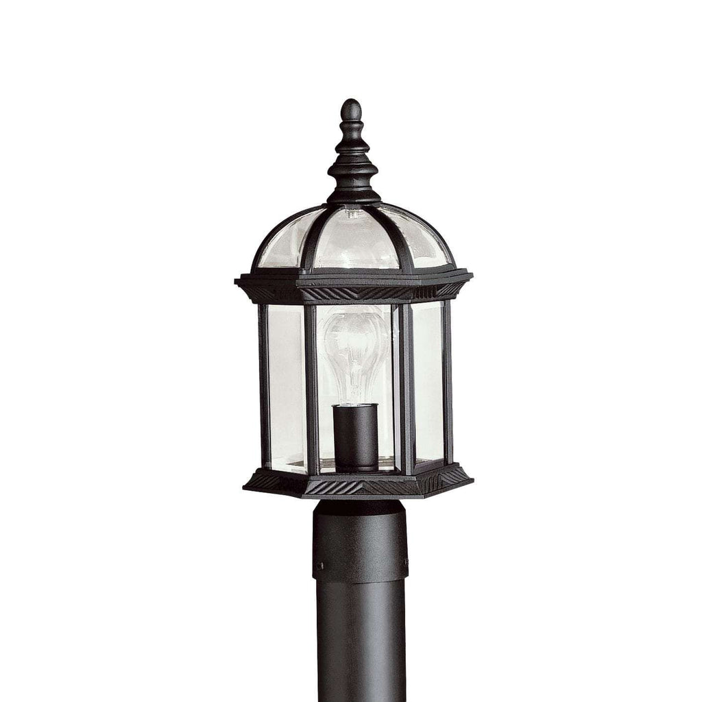 Barrie Outdoor Post Mount 1 Light - Black