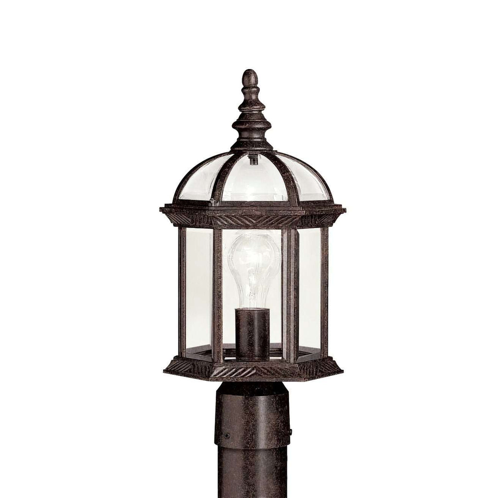 Barrie Outdoor Post Mount 1 Light - Tannery Bronze