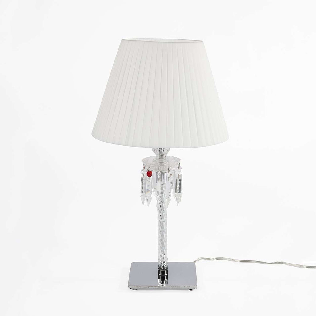 Torch Table Lamp with White Lampshade