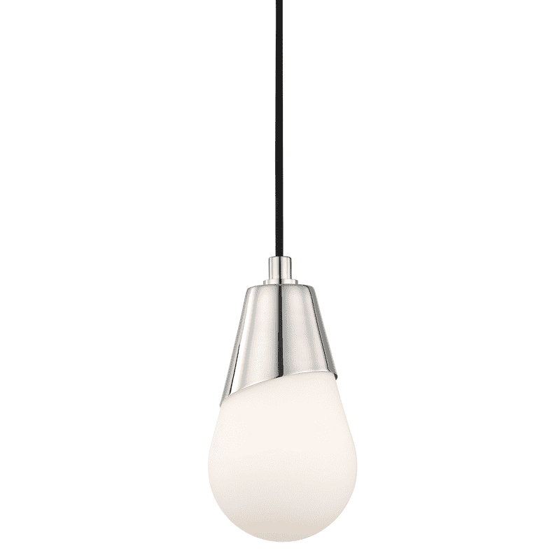 Cora 1 Light Pendant - Polished Nickel