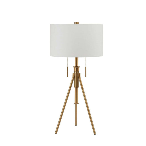 "32.5 - 37"" Adjustable BrassTripod Table Lamp"