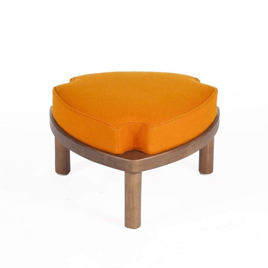 Modern Sean Dix Try Stool Ottoman - Orange