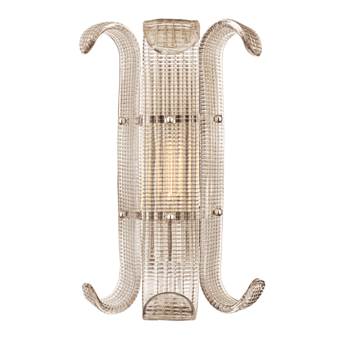 Brasher 1 Light Wall Sconce Polished Nickel