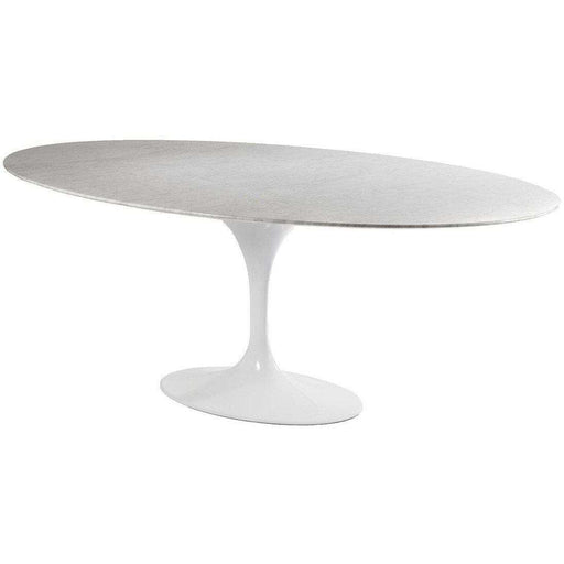 "Marble Tulip Dining Table - 79"" x 42"" Oval"