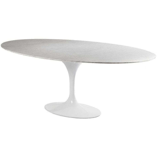 "Marble Tulip Dining Table - 79"" Oval"