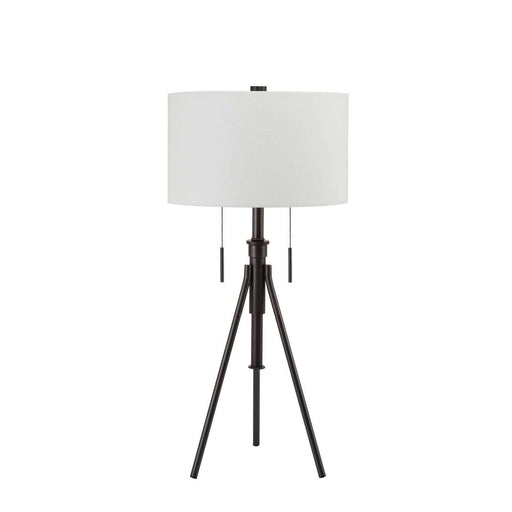 "32.5 - 37"" Adjustable Bronze Tripod Table Lamp"