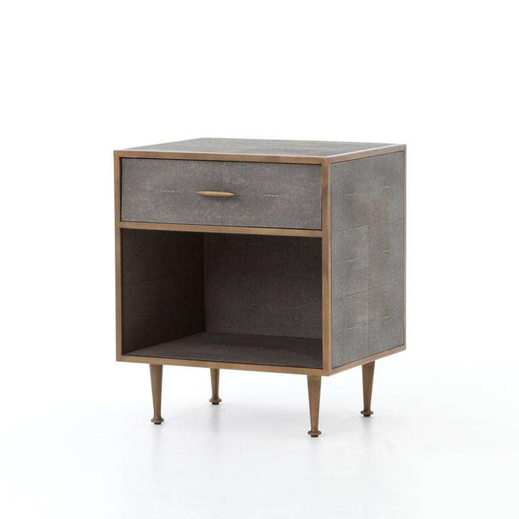 FOUR HANDS - SHAGREEN BEDSIDE TABLE - FH-VBEN-001