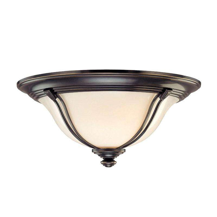 Carrollton 2 Light Flush Mount Old Bronze