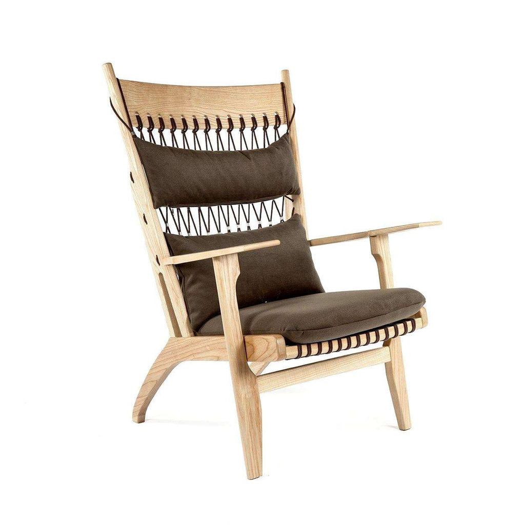 Mid-Century Modern Reproduction PP129 Web Lounge Chair Inspired by Hans Wegner