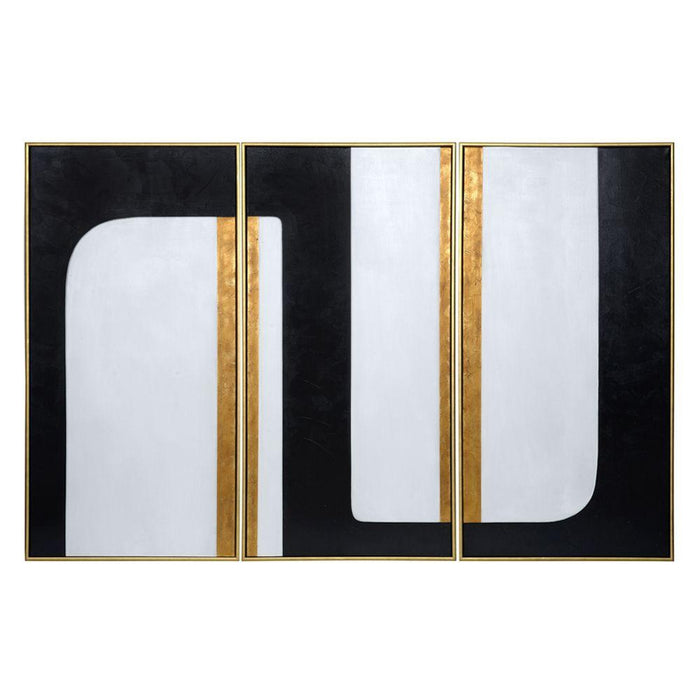 "The Path (Set Of 3) - 30"" X 60"" - Gold Floater Frame"