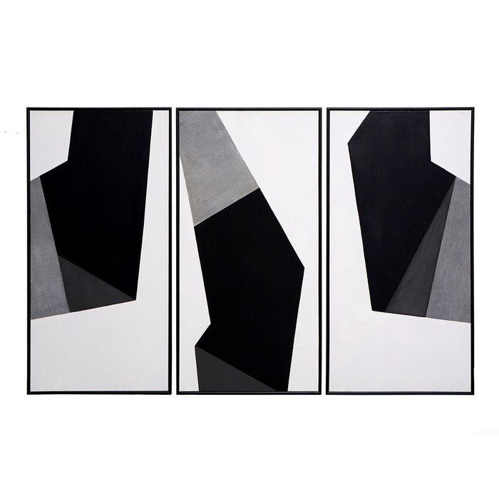 "Geo Forms (Set Of 3) - 30"" X 60"" - Black Floater Frame"