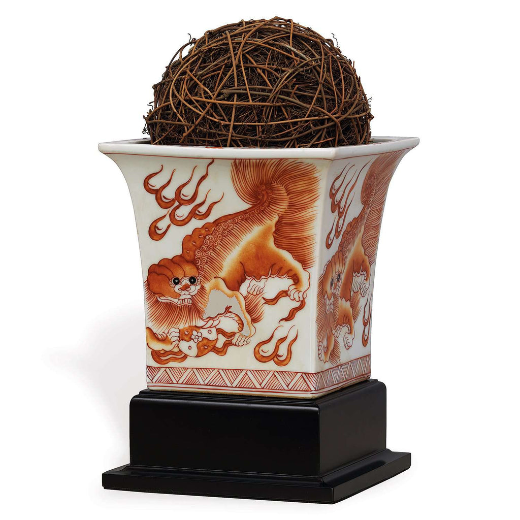 Chow Spice Square Planter W/stand