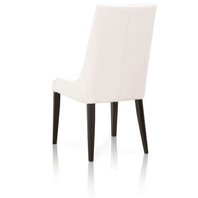 Aurora Dining Chair (Set of 2) Alabaster and Dark Wenge