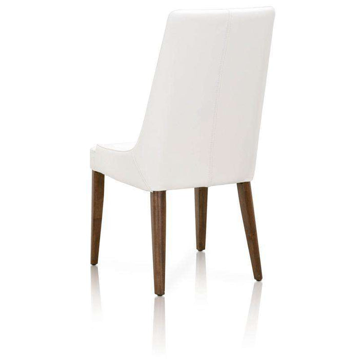 Aurora Dining Chair (Set of 2)Alabaster and Walnut