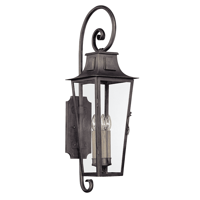 Parisian Square 4Lt Wall Lantern Large Aged Pewter