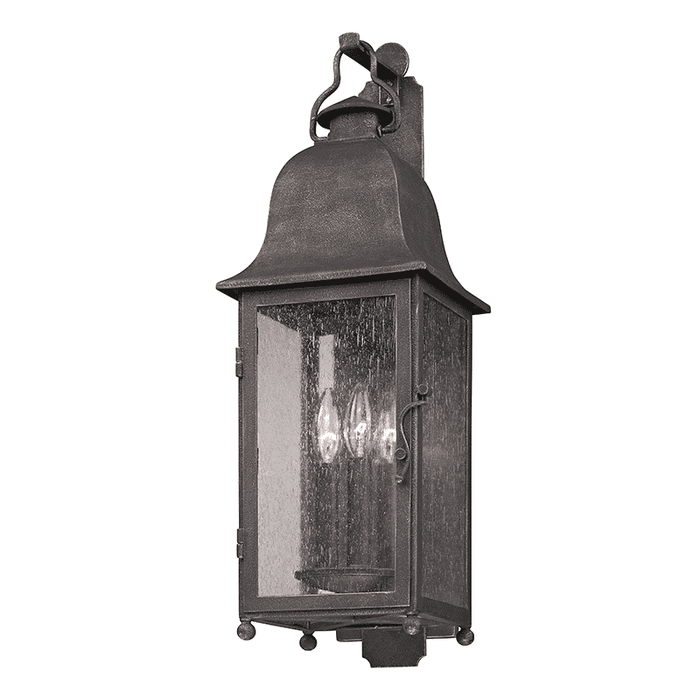 Larchmont 3Lt Wall Lantern Medium Aged Pewter