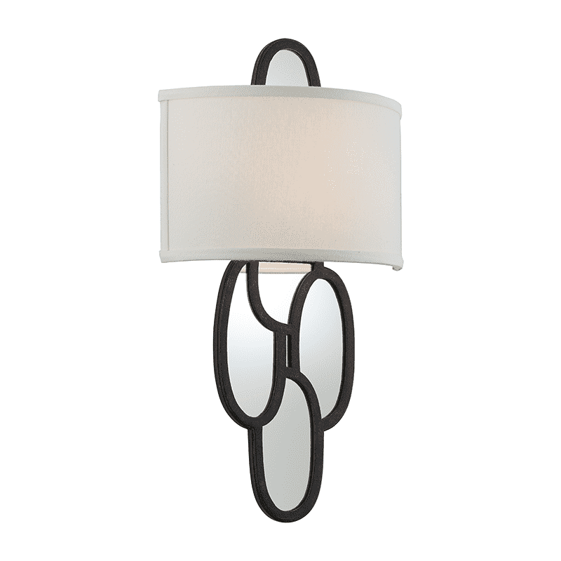 Chime 2Lt Wall Sconce Charred Copper