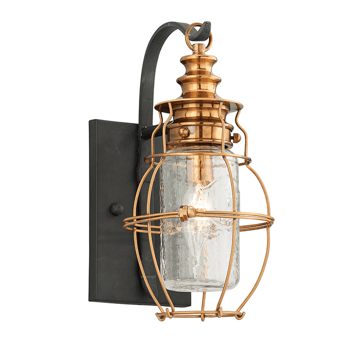 Little Harbor 1Lt Wall Lantern Small Aged Brass