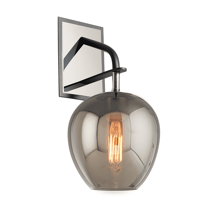 Odyssey 1Lt Wall Sconce Carbide Black And Polished Nickel