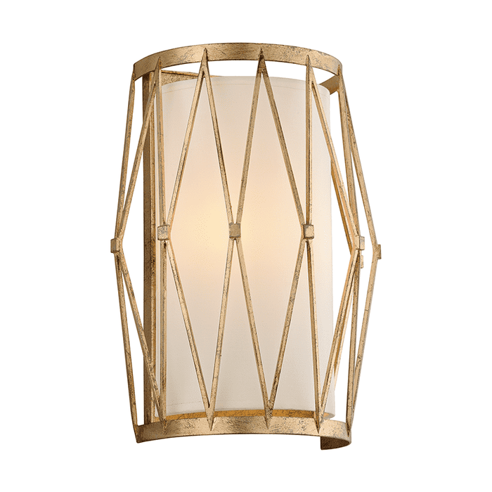 Calliope 2Lt Wall Sconce Rustic Gold Leaf