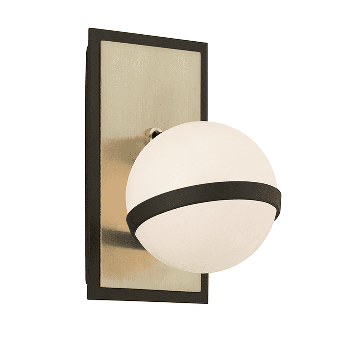 Ace 1Lt Wall Sconce Textured Bronze And Brushed Brass