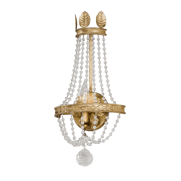 Viola 1Lt Wall Sconce Distressed Gold Leaf