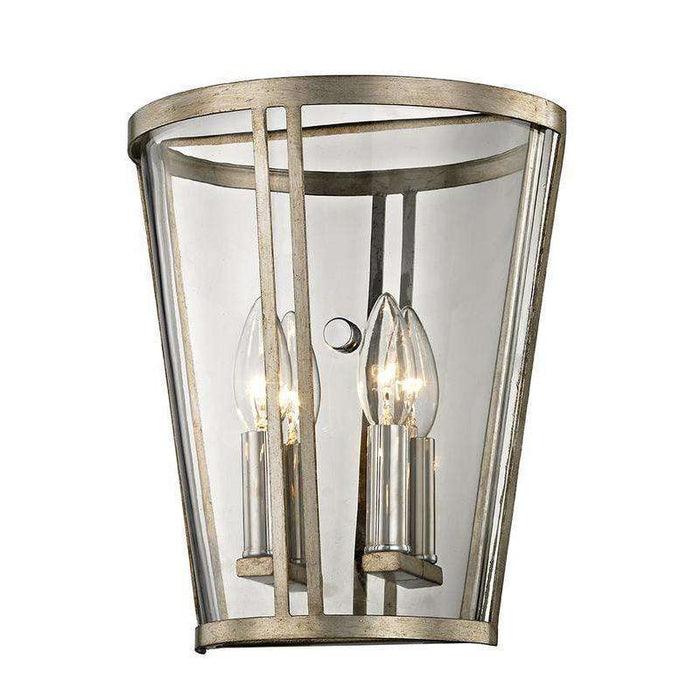 Trapeze 2Lt Wall Sconce Champagne Silver Leaf