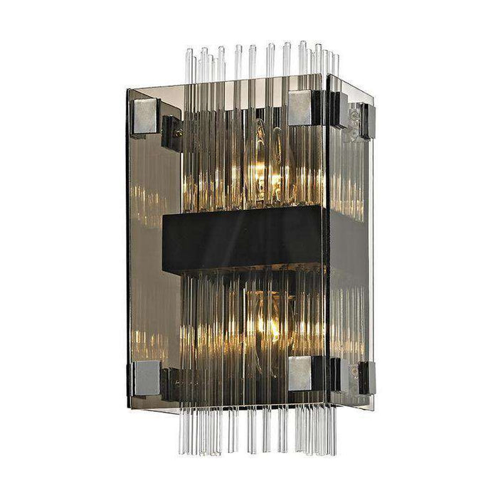 Apollo 2Lt Wall Sconce Dark Bronze Polished Chrome